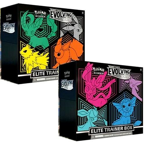 Pokemon Trading Card Game Sword & Shield Evolving Skies Set of 2 Elite Trainer Boxes