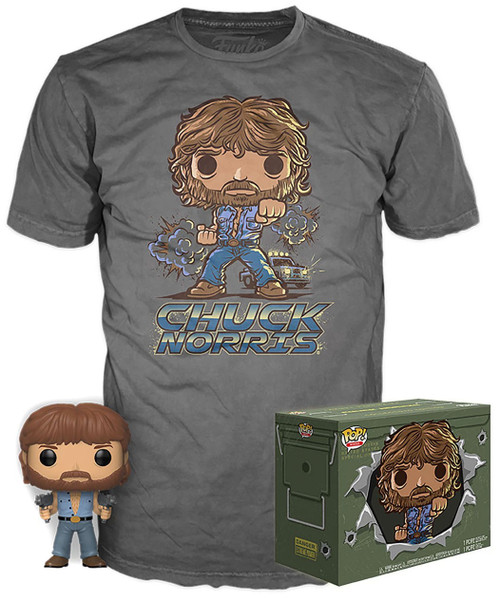 Funko POP! Movies Chuck Norris Exclusive Vinyl Figure & T-Shirt [Large]