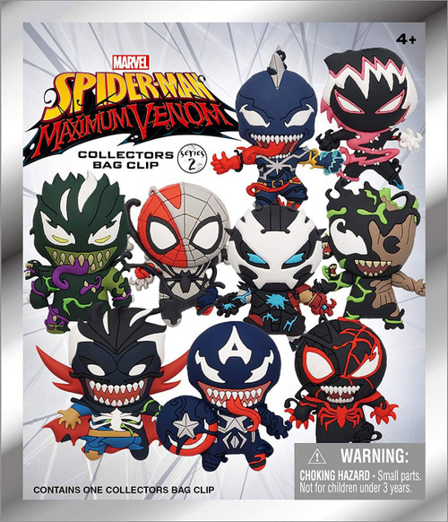 Marvel 3D Figural Keyring Spider-Man Maximum Venom Series 2 Mystery Pack [1 RANDOM Figure]