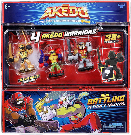 Akedo Ultimate Arcade Warriors Series 1 Sunshadow, Tailwhip & Prideheart & MYSTERY Character Mini Battling Action Figure FIGHT 4-Pack (Pre-Order ships October)