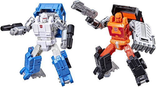 """Transformers Generations War for Cybertron Golden Disk Collection Chapter 1 Autobot Road Ranger & Autobot Puffer Exclusive 5.5"""" Action Figure 2-Pack (Pre-Order ships March)"""