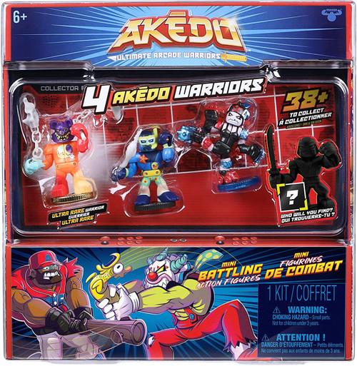 Akedo Ultimate Arcade Warriors Series 1 Starbreaker, Tear Bear, Wildtide & MYSTERY Character Mini Battling Action Figure FIGHT 4-Pack