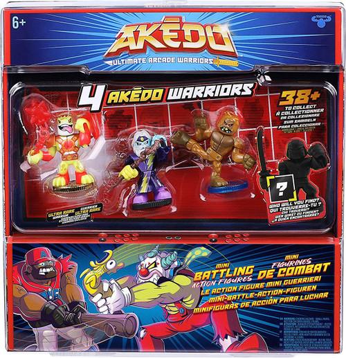 Akedo Ultimate Arcade Warriors Series 1 Thunderwind, Badfoot & Flyswat & MYSTERY Character Mini Battling Action Figure FIGHT 4-Pack (Pre-Order ships November)