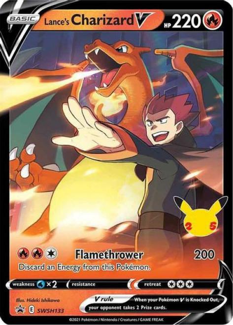 Pokemon Trading Card Game Promo Lance's Charizard V SWSH133 [Oversized]
