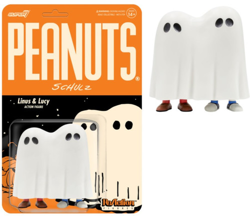 ReAction Peanuts Wave 4 Linus & Lucy Ghost Action Figure (Pre-Order ships November)