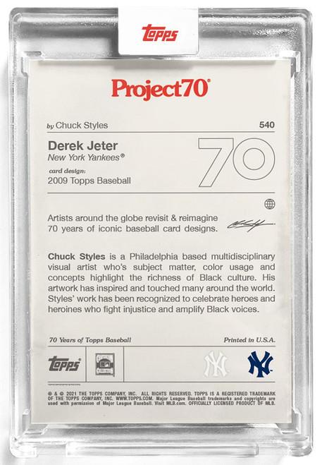 MLB Topps Project70 Baseball 2009 Derek Jeter Trading Card [#540, by Chuck Styles]