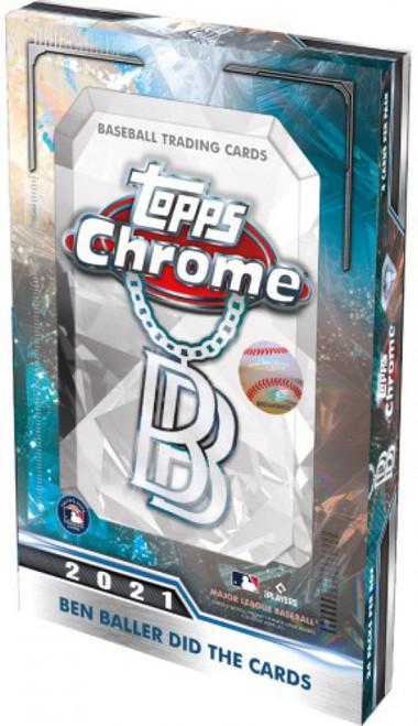 MLB Topps 2021 Chrome Ben Baller Baseball Trading Card HOBBY Box [24 Packs] (Pre-Order ships November)