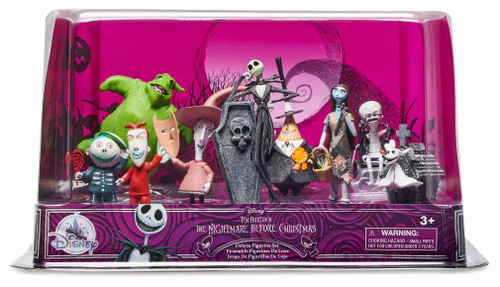 Disney The Nightmare Before Christmas Exclusive 9-Piece PVC Figure Deluxe Play Set