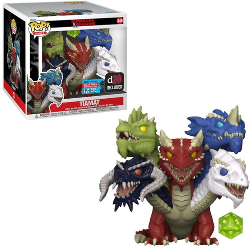 """Funko Dungeons & Dragons POP! Games Tiamat Exclusive Vinyl Figure #846 [with D20, 6"""" Super-Sized] (Pre-Order ships November)"""