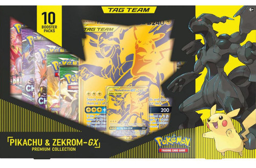 Pokemon Trading Card Game Tag Team Pikachu & Zekrom-GX Exclusive Premium Collection [10 Booster Packs, Gold Foil Card, Oversize Card & More] (Pre-Order ships January)