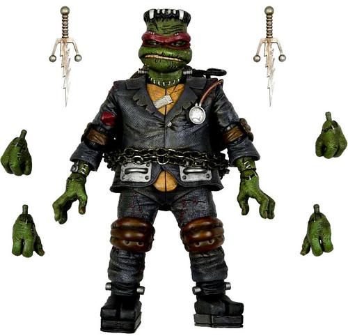 NECA Universal Monsters x Teenage Mutant Ninja Turtles Raphael as Frankenstein's Monster Action Figure [Ultimate Version] (Pre-Order ships January)