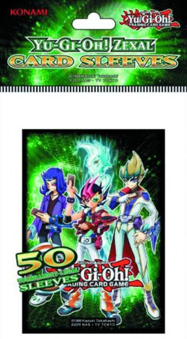 YuGiOh Trading Card Game Official Sleeves Yuma, Astral, Reginald & Kite Small Card Sleeves [50 Count]