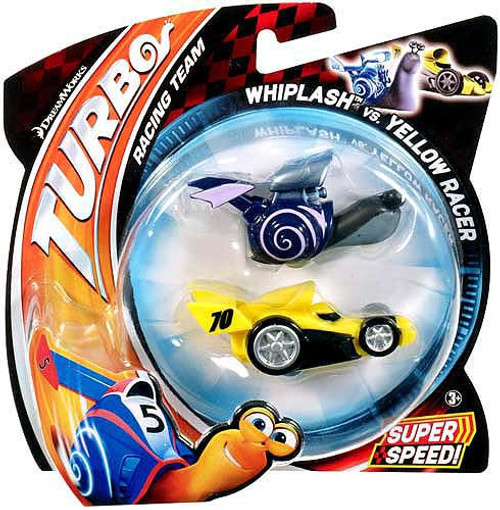Turbo Whiplash vs Yellow Racer Vehicle 2-Pack