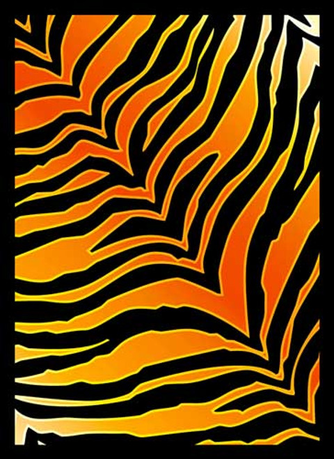 Card Supplies Tiger Print Standard Card Sleeves [50 Count]