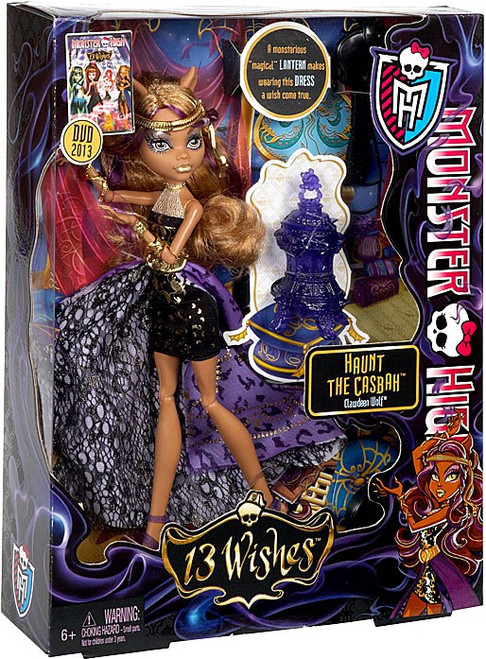 Monster High 13 Wishes Clawdeen Wolf 10.5-Inch Doll [Haunt the Casbah]