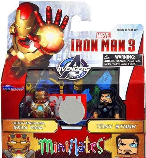 MiniMate Iron Man 3 Heartbreaker Iron Man & Tony Stark Exclusive Minifigure 2-Pack
