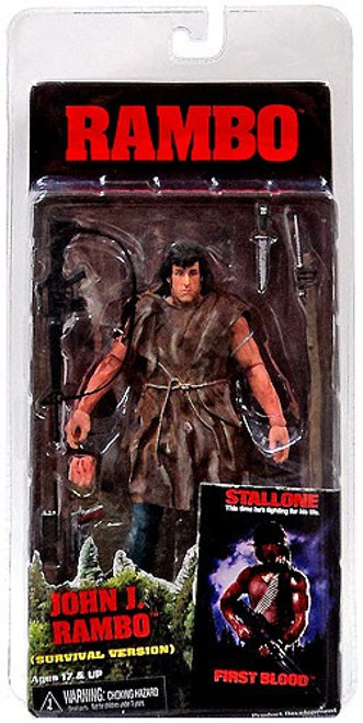 NECA First Blood Series 2 John J. Rambo Action Figure [Survival]