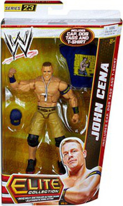 WWE Wrestling Elite Collection Series 23 John Cena Action Figure [Cap, Dog Tags & T-Shirt]
