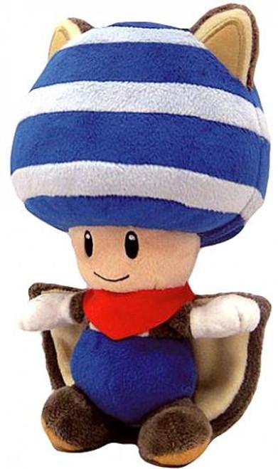 Super Mario Toad 8-Inch Plush [Blue Flying Squirrel]
