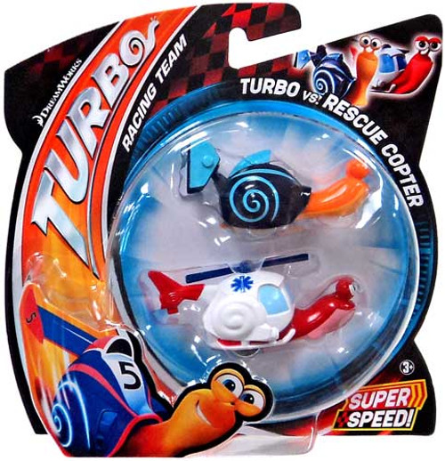 Turbo vs Rescue Copter Vehicle 2-Pack