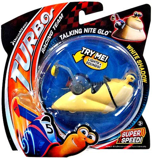 Turbo Talking Nite Glo White Shadow Figure