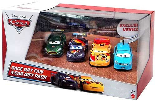 Disney / Pixar Cars Multi-Packs Race Day Fan 4-Car Gift Pack Exclusive Diecast Car Set [Set #4]