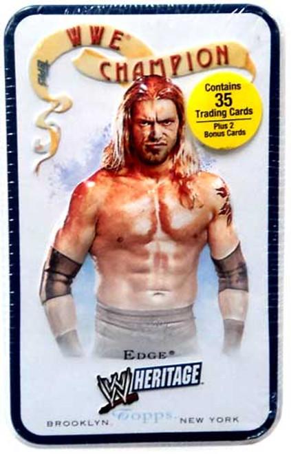 WWE Wrestling Topps 2007 WWE Heritage Edge Trading Card Tin