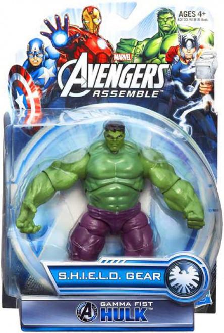 Marvel Avengers Assemble SHIELD Gear Gamma Fist Hulk Action Figure