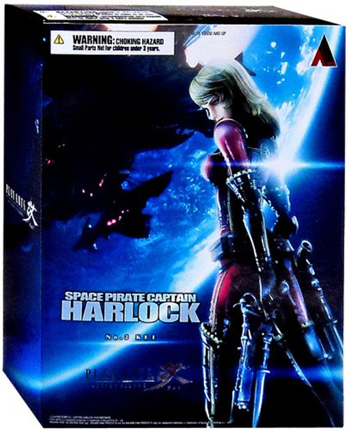 Space Pirate Captain Harlock Play Arts Kai Yuki Hotaru Action Figure