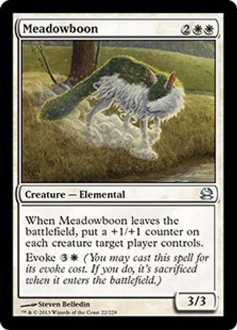 MtG Modern Masters Uncommon Meadowboon #22