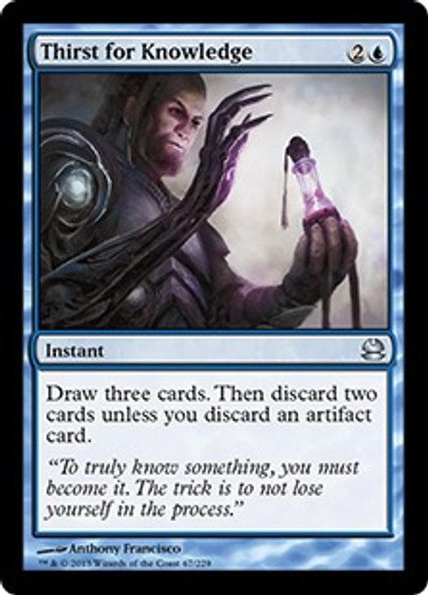 MtG Modern Masters Uncommon Thirst for Knowledge #67