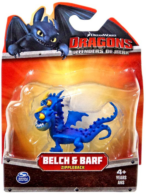 How to Train Your Dragon Dragons Defenders of Berk Belch & Barf 3-Inch Mini Figure [Purple Zippleback]