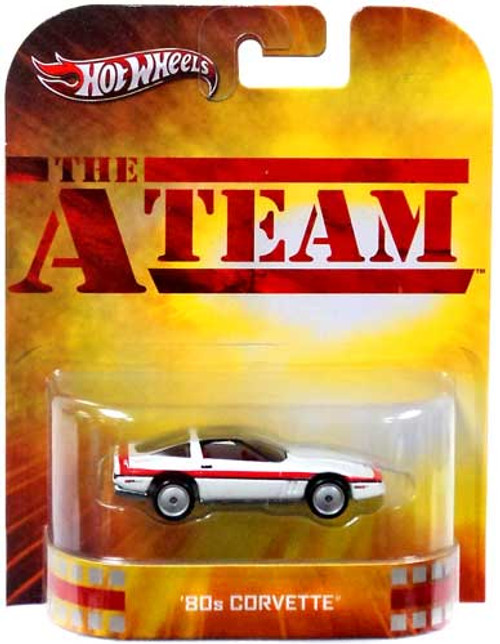 Hot Wheels The A-Team HW Retro Entertainment '80s Corvette Die-Cast Car