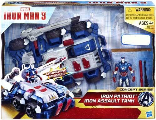 Iron Man 3 Concept Series Iron Patriot Iron Assault Tank Exclusive Action Figure Vehicle