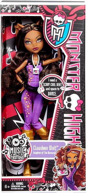 Monster High Music Festival Clawdeen Wolf 10.5-Inch Doll