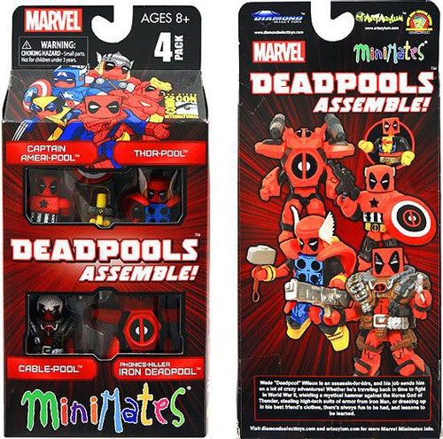 Marvel Deadpools Assemble Exclusive Minifigure 4-Pack