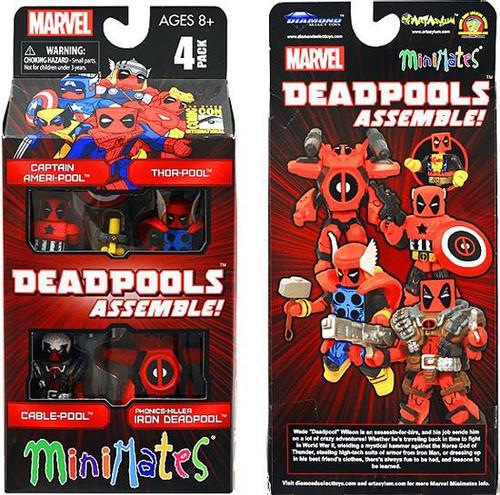 Marvel Deadpools Assemble Exclusive Minifigure 4-Pack