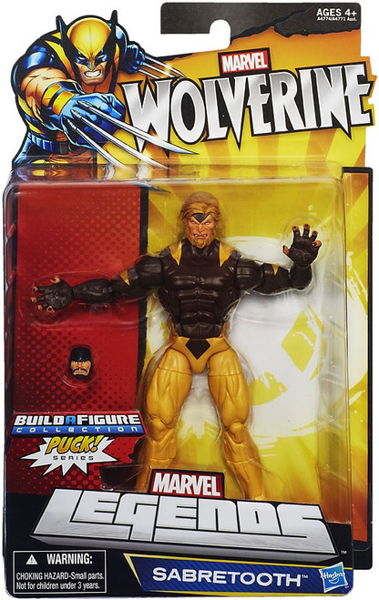 Wolverine Marvel Legends Puck Series Sabretooth Exclusive Action Figure