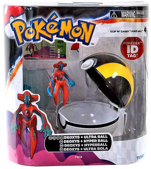 Pokemon Clip n Carry Pokeball Deoxys with Ultra Ball Figure Set