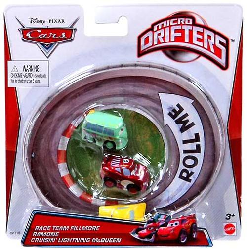 Disney / Pixar Cars Micro Drifters Team Fillmore, Ramone & Cruisin' Lightning McQueen Mini Cars