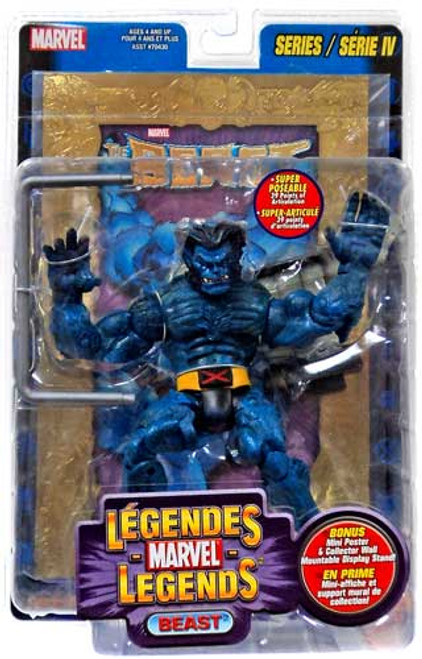 Marvel Legends Series 4 Beast Action Figure [Gold Foil Poster Variant]