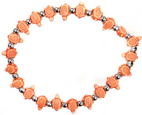 Trrtlz Orange Turtles Bracelet