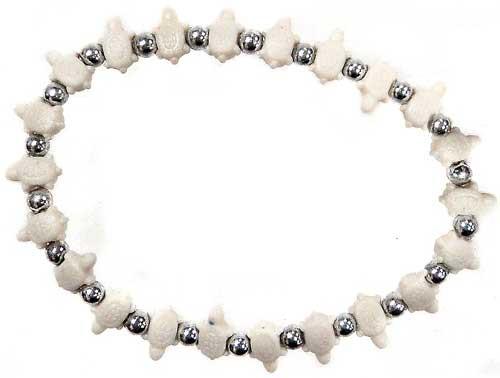 Trrtlz White Turtles Bracelet
