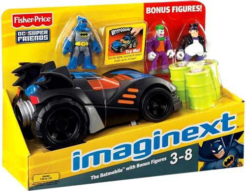 Fisher Price DC Super Friends Imaginext Batmobile 3-Inch Figure Set [Bonus Figures]