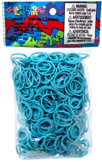 Rainbow Loom Turquoise Rubber Bands Refill Pack RL20 [600 Count]