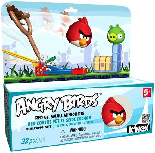 K'NEX Angry Birds Red Bird vs. Small Minion Pig Set #72475 [Blue Box]