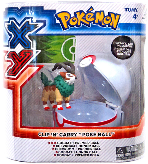 Pokemon Clip n Carry Pokeball Gogoat with Premier Ball Figure Set