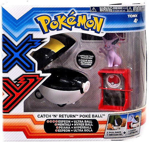 Pokemon Catch n Return Pokeball Espeon & Ultra Ball Figure Set