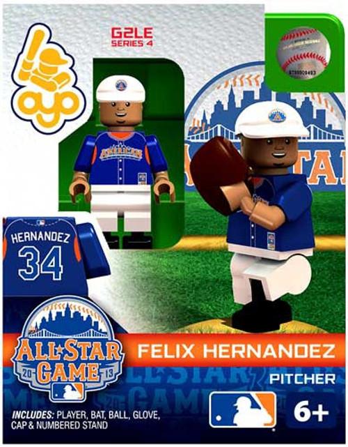 American League MLB Generation 2 Series 4 Felix Hernandez Minifigure [All-Star Game]