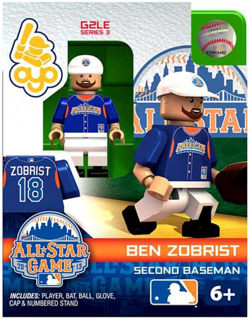 American League MLB Generation 2 Series 3 Ben Zobrist Minifigure [All-Star Game]